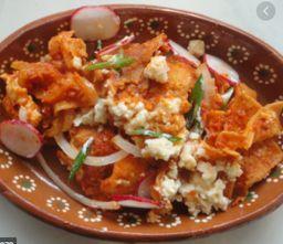 🌶 Porción de Chilaquiles Rojos