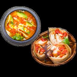 Pollo Crispy + Sopa Méxicana