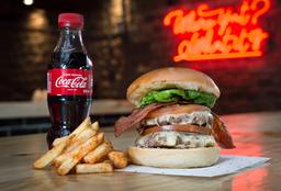 Combo Double cheese bacon Burger