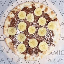 Pizza Nutella y Banano