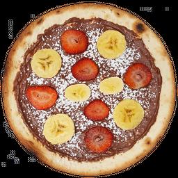 Pizza de Nutella con Fresa y Banano