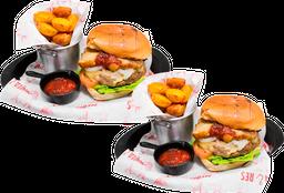 🍔 2 Hamburguesas + 🍟 2 Papas