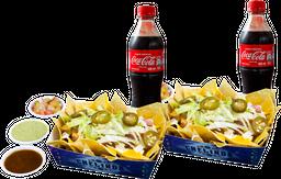 2 Nachos + 2  Coca-Cola