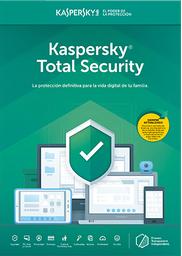 Licencia Kaspersky Total Security 3 Dispositivos 1 Año