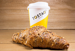 Croissant de Cereales + Cappuccino 12 Oz