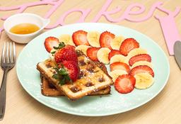 🍌🍓🍯 Waffles Miel y Fruta