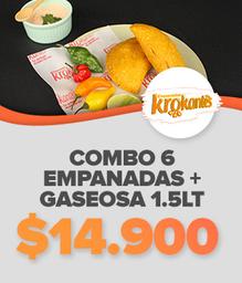 Combo 6 Empanadas + gaseosa 1.5Lt