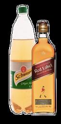 Rappicombo Johnnie Walker + Schweppes 1.5lts