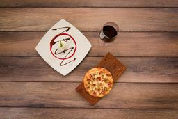 Pizza ligera y acompañamiento