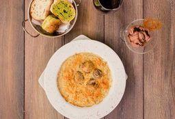Risotto Pollo, Champignon y acompañamiento