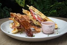 🥞 Waffle de Pavo y Mostaza