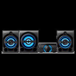 Sistema de audio de alta potencia con DVD M80D MHC-M80D