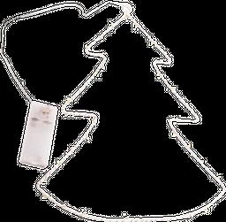 Pino Colgante Decorativo Metal  Blanco