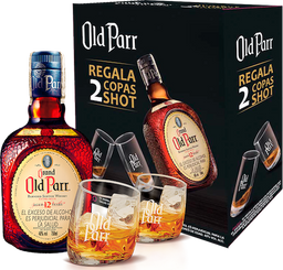 Rappicombo Whisky Old Parr 12 años 750ml + 2 copas