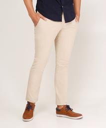 Pantalón Chino Para Hombre Botones En Contraste Beige
