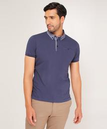 Polo Para Hombre Slim Fit Cuello Button Down Azul