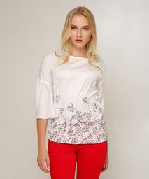 Blusa Satinada Para Mujer Con Sublimación En Color Blanco