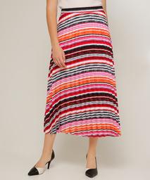 Falda Para Mujer Larga Plisada Estampado En Color Rojo