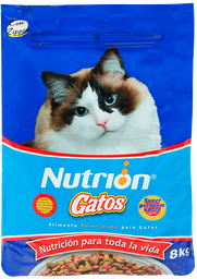 Concentrado Para Gatos Nutrion 8kg Azul