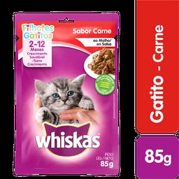 Whiskas comida húmeda carne gatito sobre 85g