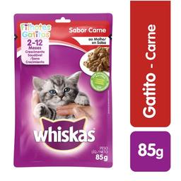 Whiskas Alimento Húmedo Gatitos Sabor Carne 10192741