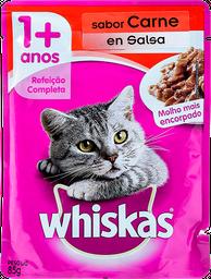Salsa Para Gatos Sabor A Carne Whiskas 0.08 kg