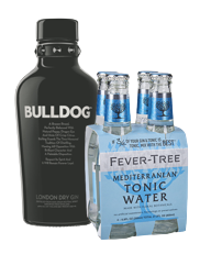 Ginebra Bulldog 750ml + 4 pack Fever Tree Tónica 30% OFF