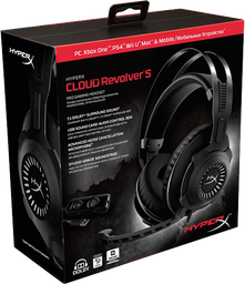 Diadema Gamer Kingston Hyperx Cloud Revolver S - Negra