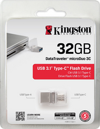 Memoria Kingston Microduo Usb 3.1 Y Tipo C 32gb