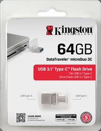 Memoria Kingston Microduo Usb 3.1 Y Tipo C 64gb