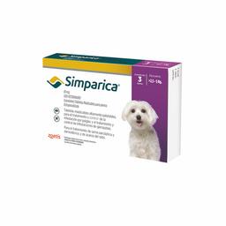 SIMPARICA 10 MG 3 TB (2.5 A 5 KG)