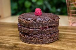 Torta Brownie y Frambuesa