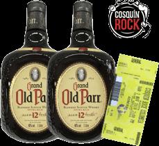 Rappicombo Old Parr 1 litro + Boleta para Cosquín Rock 2018