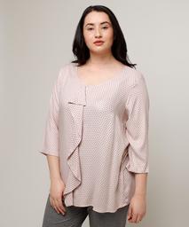 Blusa Estampada Con Bolero Al Frente En Color Rosado