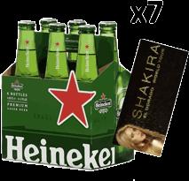 Rappicombo Sixpack de Heineken + Boleta para Shakira