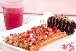 🥖Combo Tardeada: Churros + Torta de Brownie + Jugo Natural