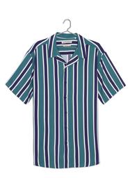 Camisa Manga Corta Cuello Resort De Rayas-