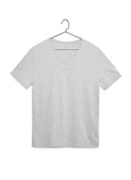 Camiseta Cuello En V Color-