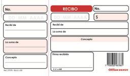 Talonario Recibos Block X80