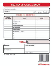Recibo Caja Menor Detalle 200H