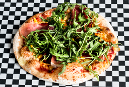Pizza Carmela (rúgula según disponibilidad)