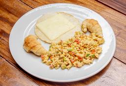 🧀🍳 Arepa con Queso y Huevos al Gusto