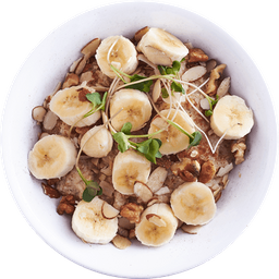 Porridge de Avena Banana Nuts