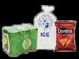 Rappicombo Sixpack de Redds + Bolsa de hielo y Doritos gratis