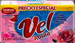 Jabón en Barra Vel Rosita Tripack 3x220gr