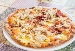 Pizza Pollo Tocineta Miel Mostaza