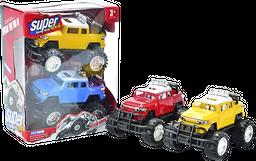 Set Camionetas 4X4 Movimiento Libre colores Surtidos 3 +