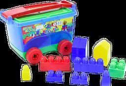 Mega bloques vagón 45 piezas 3+