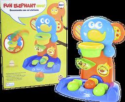 Divertido Elefante Lanza Aros y Encesta 2+