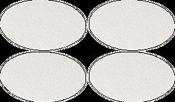 Set*4 Portavaso Oed-S2 11*11*1Cm Pvc Blanco